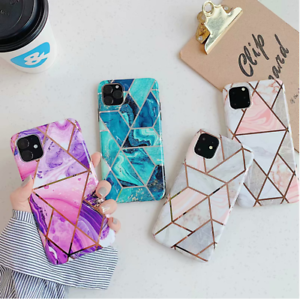 Geometric-Marble-Case-for-Samsung-S20-A51-A71-A20e-A40-A50-A70-Soft-Pastel-Cover