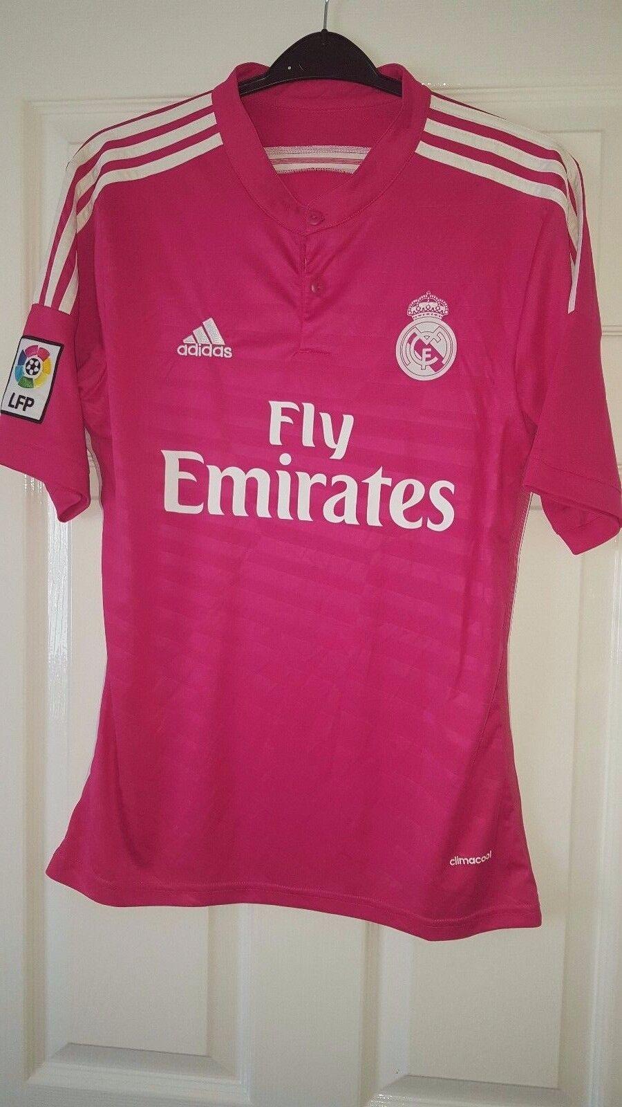 Mens Football Shirt - Real Madrid - Adidas - Away 2014-2015 - Fly Emirates -S