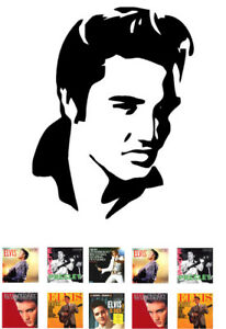 Elvis-Presley-Silhouette-Edible-A4-ICING-SHEET-Plus-10-Album-Cover-Toppers