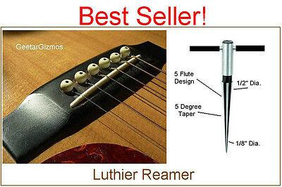 GeetarGizmos Tapered BRIDGE PIN HOLE REAMER Guitar Woodworker Luthier Tool