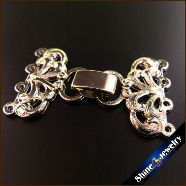 2/5/10 pcs 4 Strings Silver Plating Flower Toggle Clasps Connector FINDINGS
