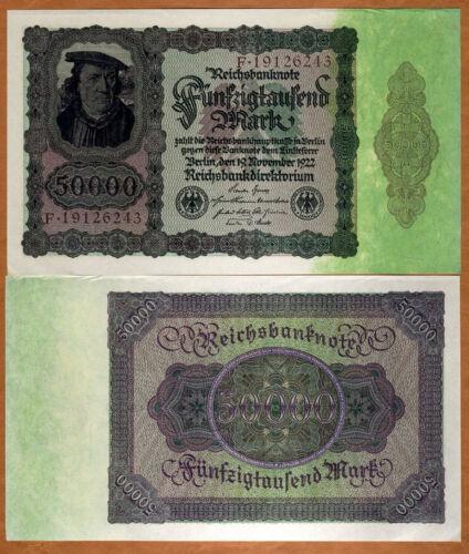 aUNC 1922 50000 P-80 Germany 50,000 Mark