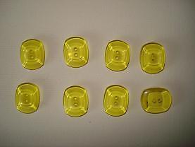 8 boutons plastiques, 14 mm, 2 trous, jaune,    CT3C11b
