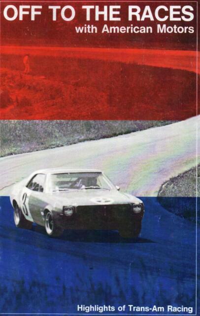 AMC NOS 68 TransAm Javelin AMX racing dealer booklet Peter Revson Kaplan Follmer