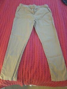 Premium-Kids-Khaki-Pants-Girls-Size-14-School-Uniform-Stretch