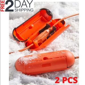 Electric Cord Protector Connection WaterTight Seal Waterproof Lock Gasket Orange