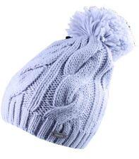 Bench Light Blue Cable Knit Lavendah B Bobble Top Pom Beanie BMWA0367 Winter Hat
