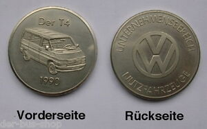 VW Bus T4 - Münze / Medaille - Sonderprägung 1990