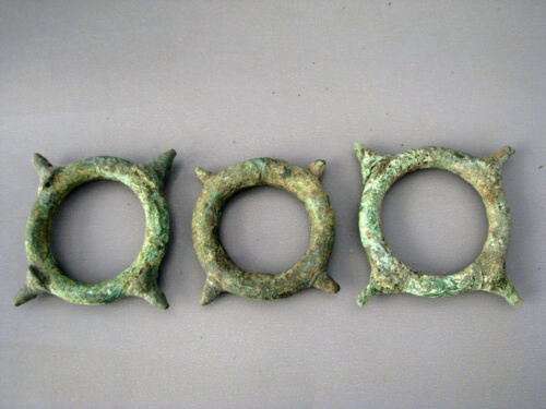 Wholesale Beautiful & Most Rare 3 Ancient Bronze Bangle Cheap Price Don't Miss