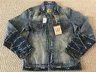 NWT Men's Wash Yard Denim Co Washed Light Blue Jean Denim Jacket ALL SIZES M-2XL