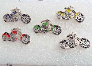 Gift-set-of-5-Chopper-bobber-Enamel-Pin-Badge-Biker-Custom-Choppers-Forever