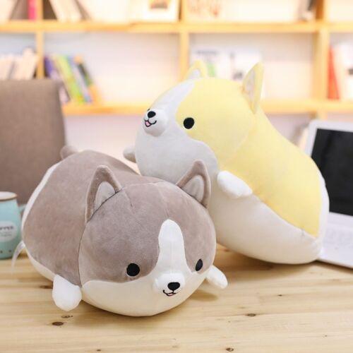 Mignon Corgi Chien Peluche Jouet En Peluche Doux Animal Cartoon Pillow Lovely 12//18//23 pouces