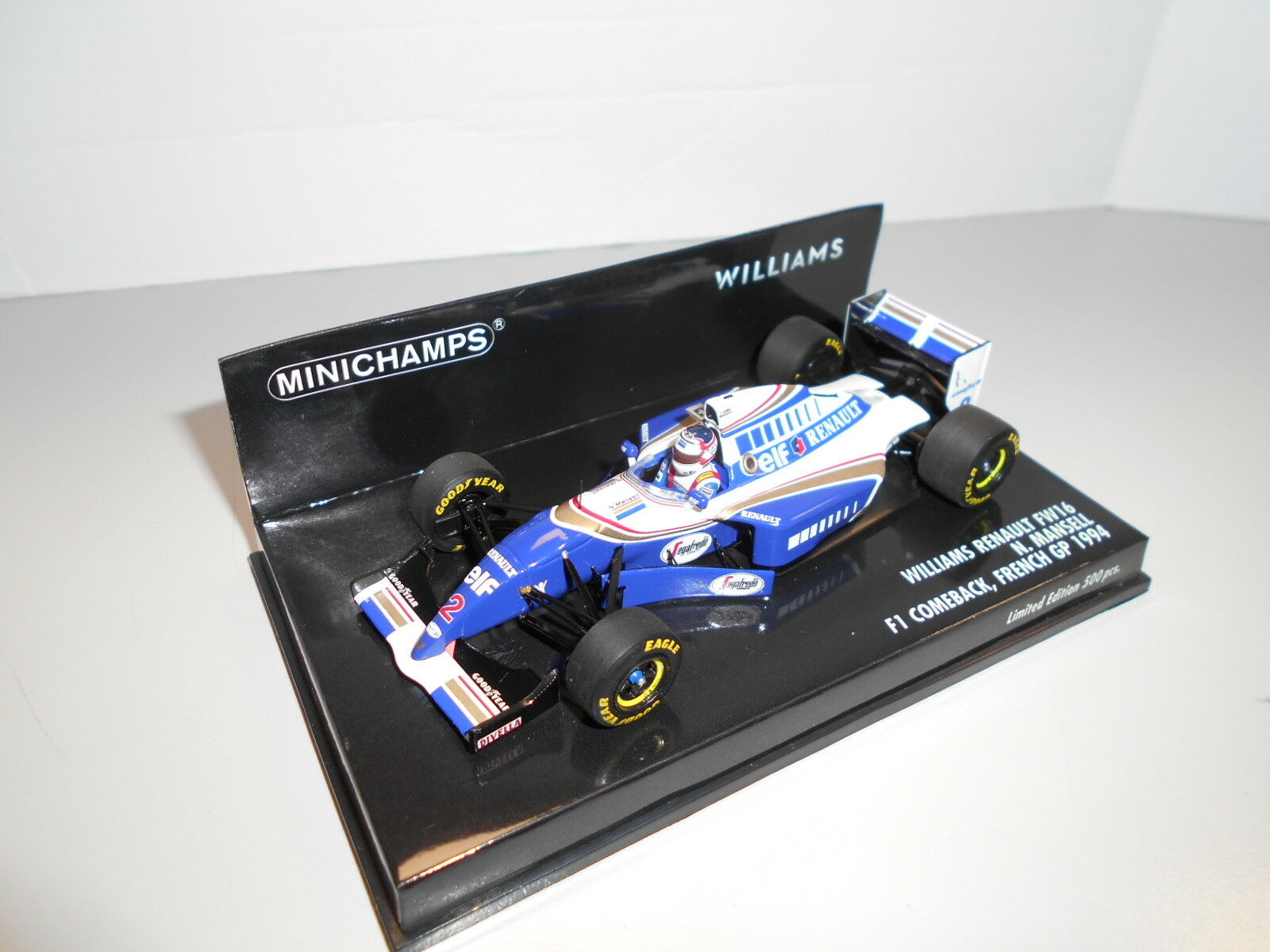 MIN417940702 by MINICHAMPS RENAULT WILLIAMS FW16 1994  2 N. MANSELL 1 43