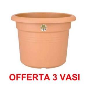 ELHO OFFERTA 3 VASO GREEN BASICS CILINDER 35CM MILD TERRA
