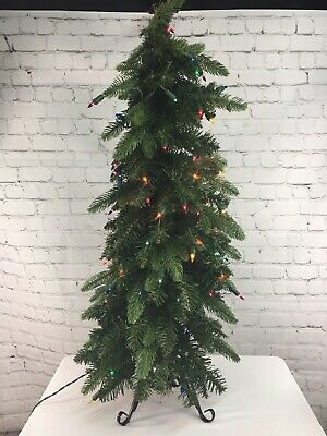 Bethlehem Lights 3' Slim Green Downswept Christmas ...