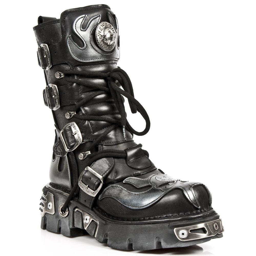 New Rock Style Boots Unisex Punk Gothic Stivali - Style Rock 107 S2 Argento fd1b13