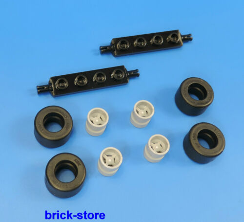 Auto 2x Achsen 4 x Reifen 4 x Felgen  hellgrau LEGO® City  LKW