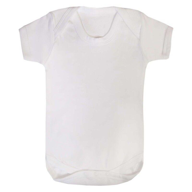 Plain bebé crece-Liso Blanco bebé crezca-Liso Bebé Chaleco-Blanco babygrow