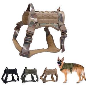 Tactical-Training-Dog-Harness-Vest-Military-Adjustable-Molle-Nylon-Vests-Dogs-Pr