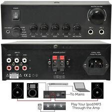 110W MINI AMPLIFICATORE STEREO SISTEMA -- Home / Office Loud Speaker Karaoke Hi-Fi RCA AUX