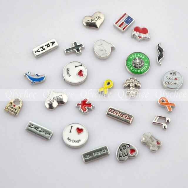 New Floating Locket Charms for Glass Living Memory Lockets 1 piece Free Shipping