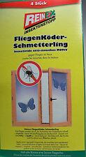 4 x Schmetterling Fliegenköder Fliegenfänger geruchlos Insektenschutz  W I R K T
