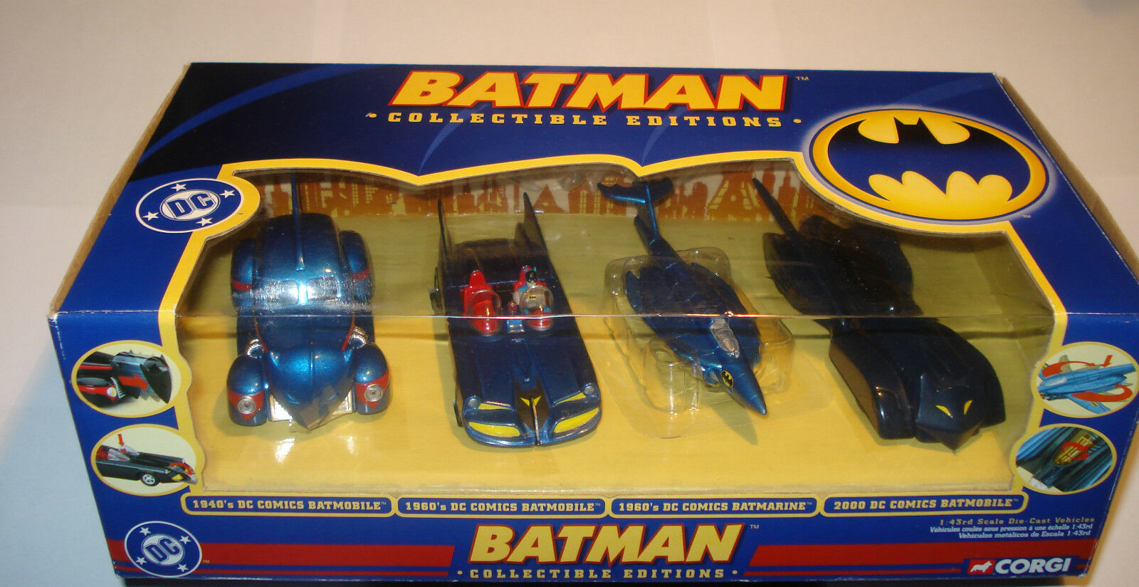 venta de ofertas CORGI BATMOBILE BATMOBILE BATMOBILE 1 43 comics azul COLLECTABLE EDITION batman Acción Figura no1 18  nuevo estilo