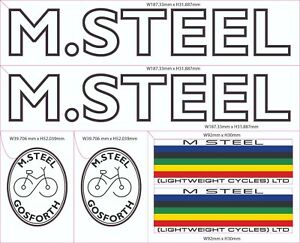 M STEEL BICYCLE DECALS