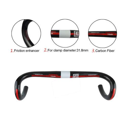 UD Glossy Full Carbon Drop Handlebar MTB Road Bike Bicycle Ultralight Drop Bar