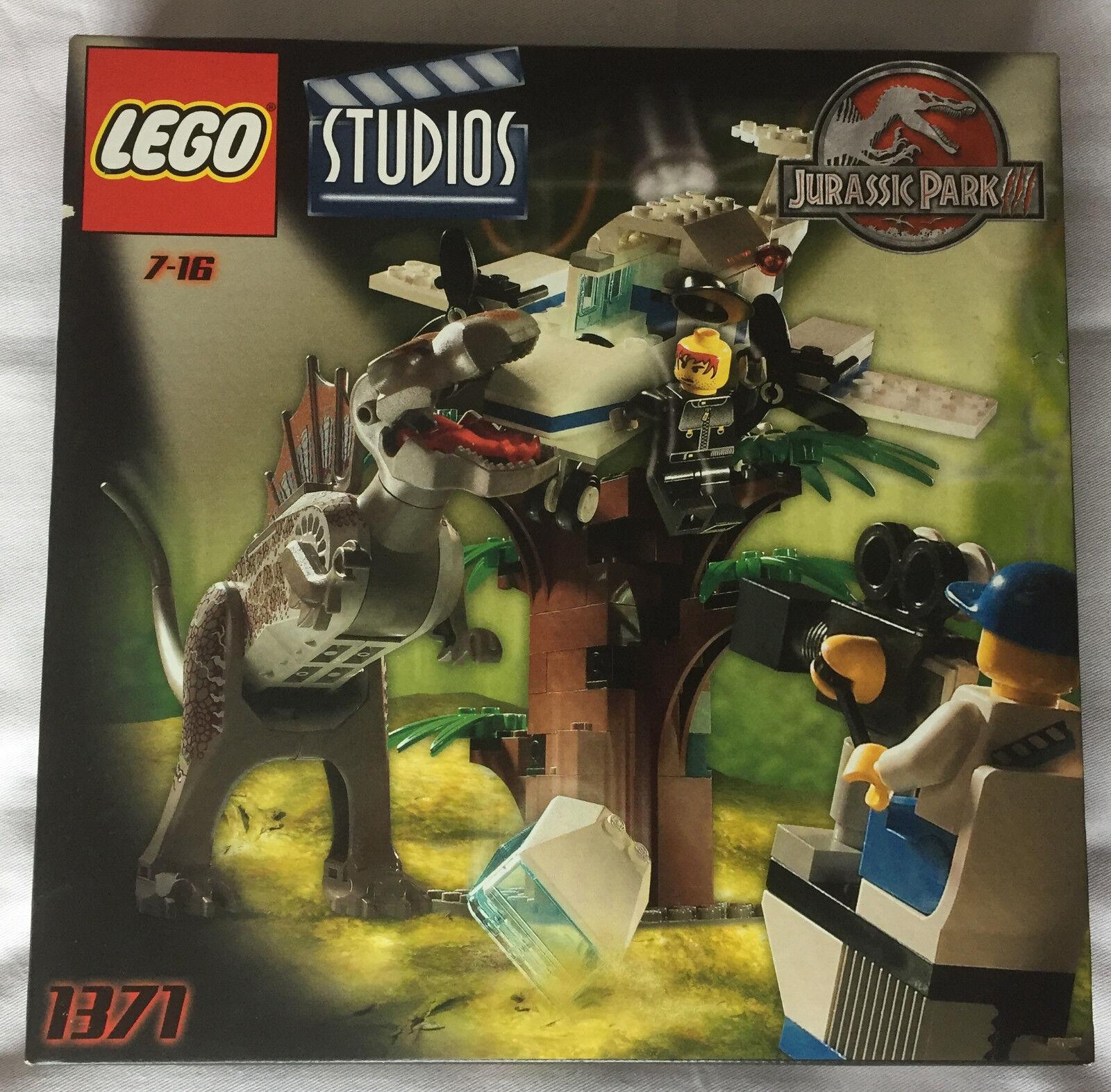 Lego VINTAGE 2001 Studios Jurassic Park III 1371 Espinosaurio ataque Nuevo Y En Caja Sellada