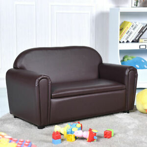 Kids Sofa Armrest Chair Lounge Couch Wood Construction Storage Box
