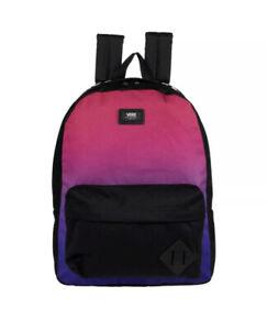 NWT Vans Old Skool III Backpack School Laptop Bag Purple Pink Ombré Black Multi