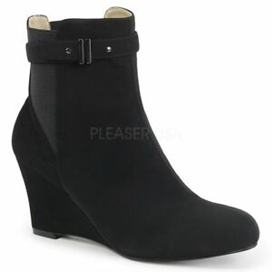 Kimberly Label Stivaletto nero Elegante Wedge Wedge Pink Heel 102 Pleaser 5aPgqw