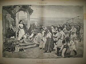 POLOGNE-COUTUME-FETE-DE-LA-MOISSON-TONKIN-PRISE-SON-TAY-CANICULE-GRAVURES-1884