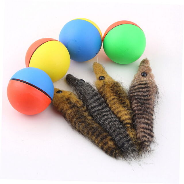 Dog Cat Weasel Motorized Funny Rolling Ball Pet Appears Jump Moving Alive Toy 7#