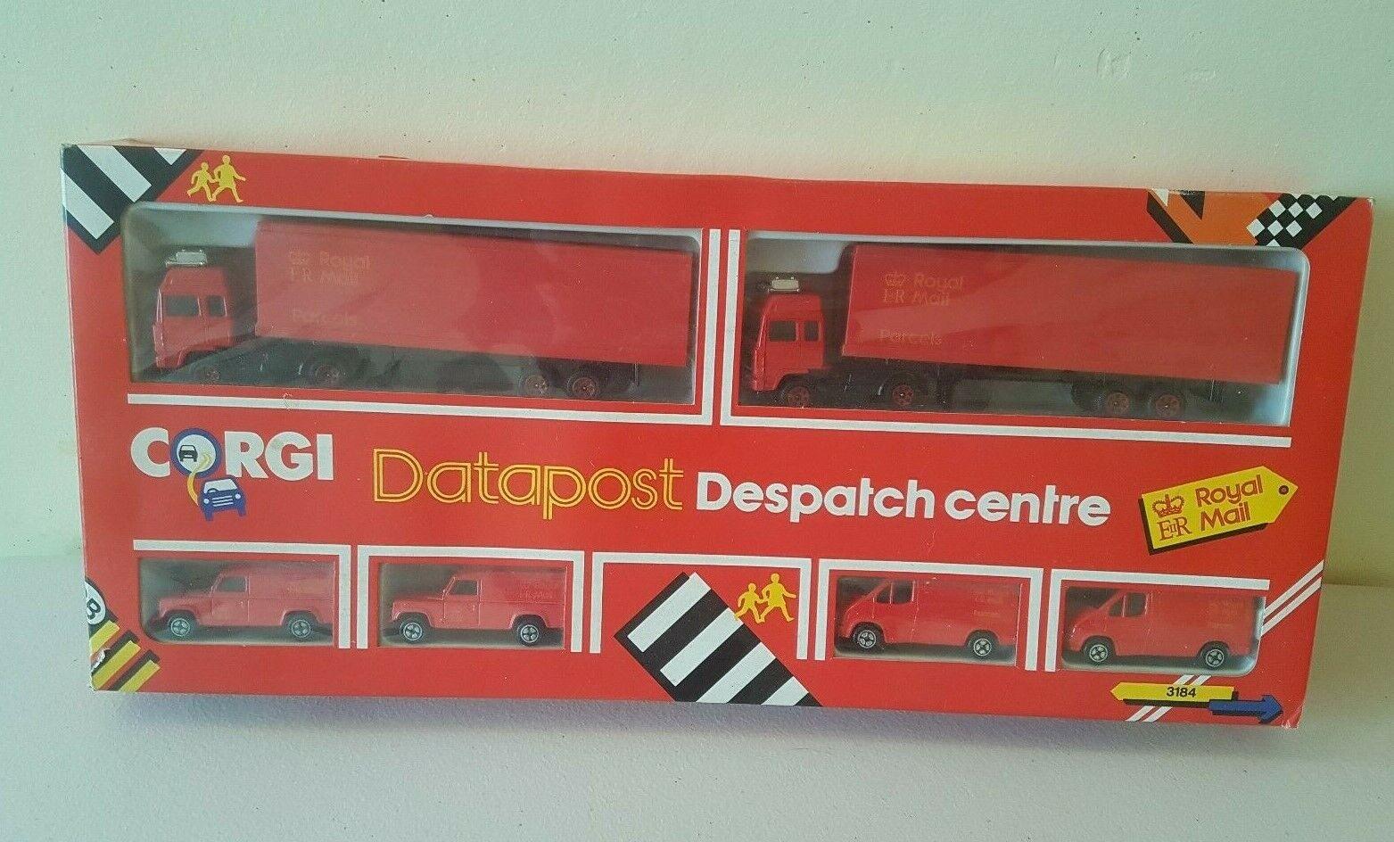 Corgi Juniors 3184 Royal Mail Datapost Despatch Centre Set Boxed 1989