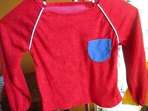 VTg 70s grls boys sz 6 relic Stretch Acrylic Pocketed Red HIPPY DISCO T-Shirt