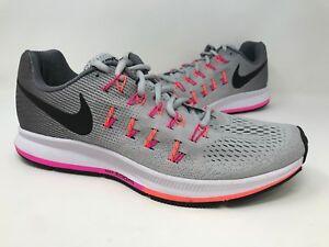 6c2472a7d280 New! Women s Nike 831356-006 Air Zoom Pegasus 33 Platinum Gray Pink ...