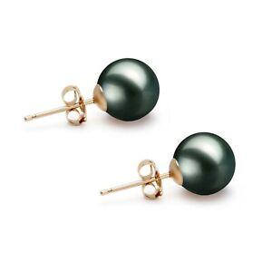 black pearl stud earrings Black pearl earrings Tahitian black pearl earring black stud earring black pearl studs black pearl earring