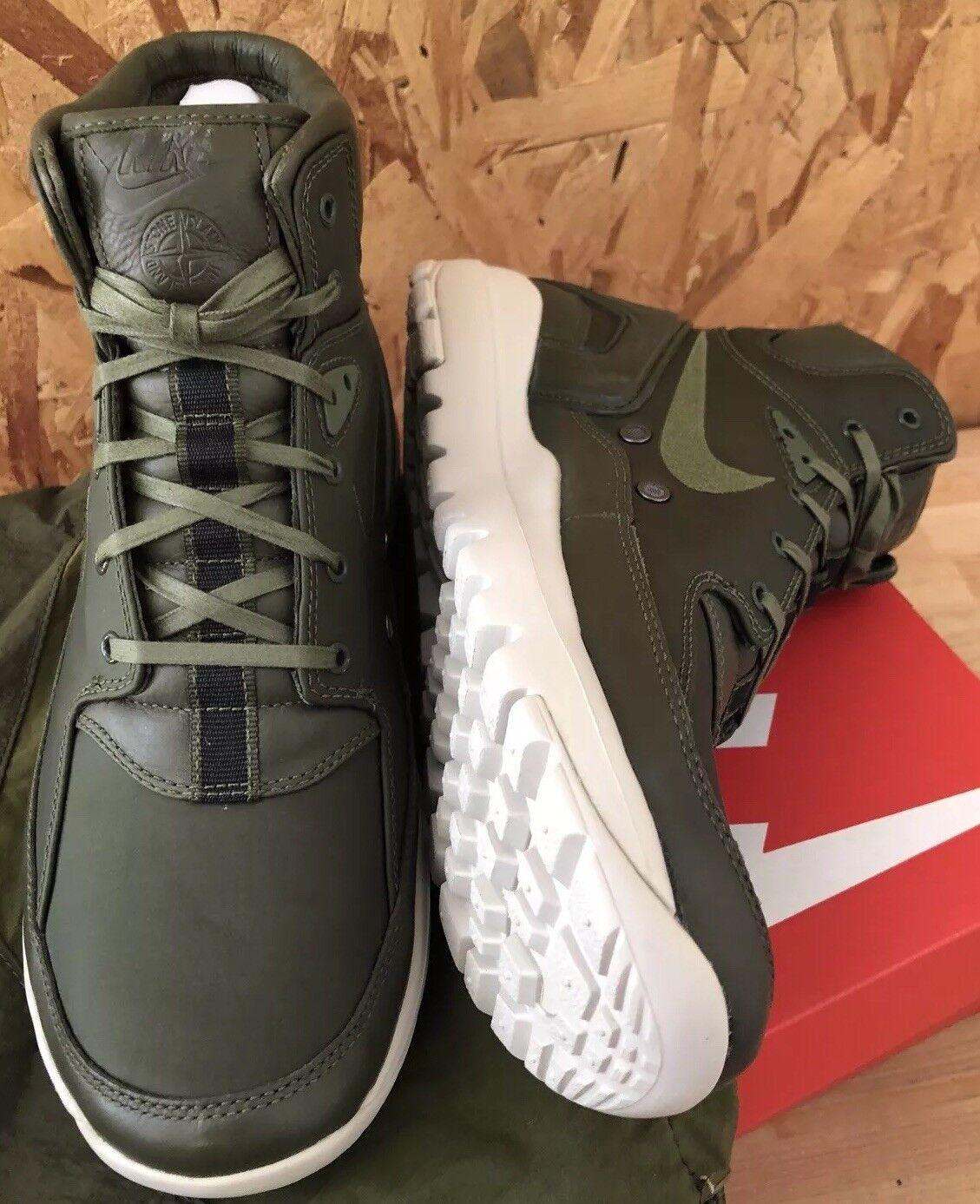 Nike Koth Ultra Mid SI X Stone Island Sz 8.5 Rough Green NIB 834912-332