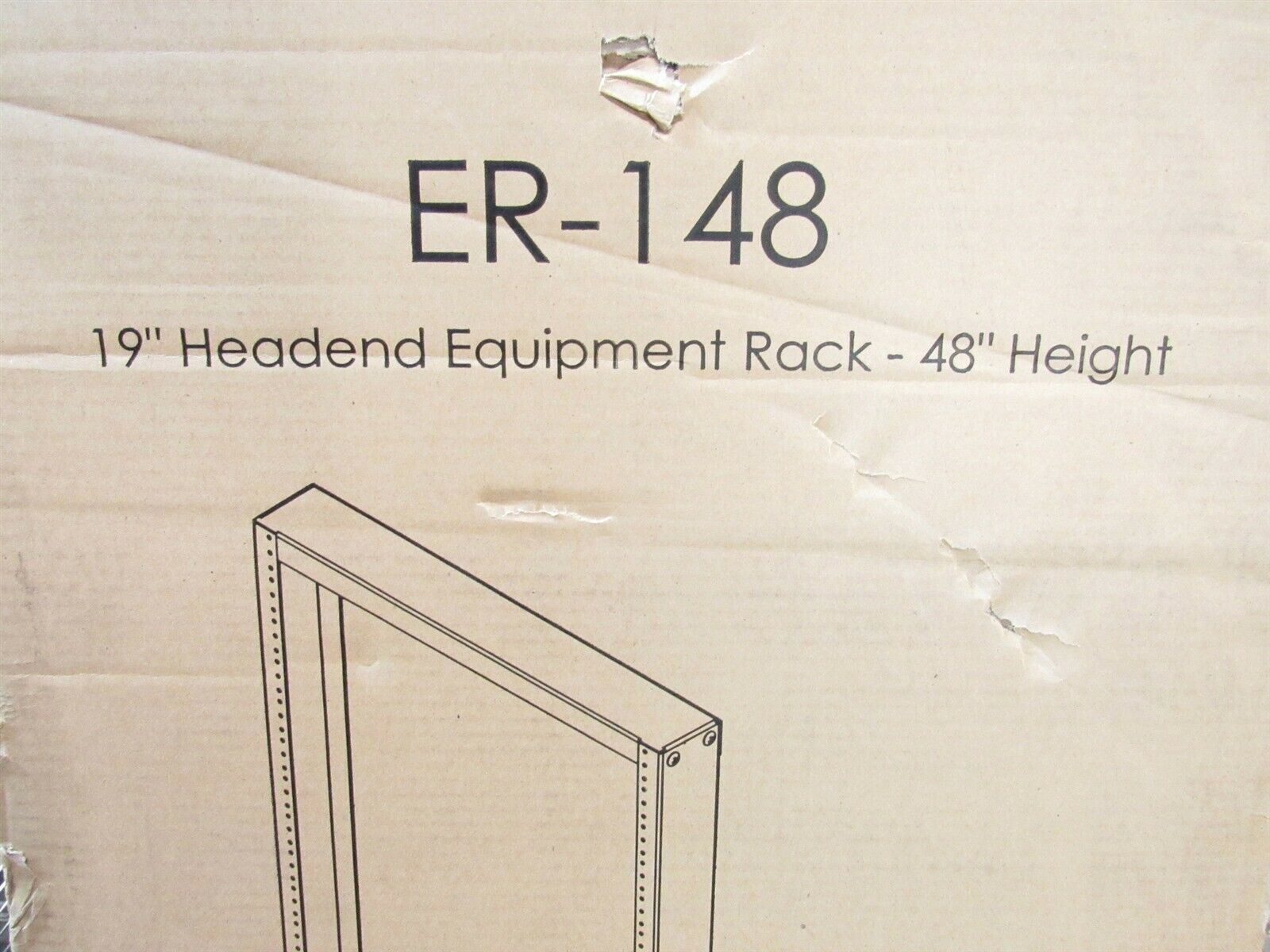 VMP Video Mount Products ER-148 19  Headend Equipment Rack 48  Height Open Frame