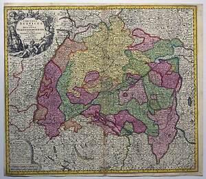 Baden-Wuerttemberg-Seutter-Karte-Map-1730