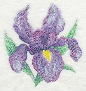Lilacs in Mason Jar in Watercolor  OF 2 BATH HAND TOWELS EMBROIDERED BY LAURA
