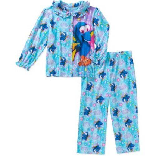 Finding Dory Toddler Girls Button Down Pajama Sleepwear Set Sizes 2T,3T,4T NWT