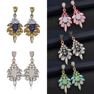 Fashion-Women-Vintage-Crystal-Resin-Ear-Stud-Drop-Dangle-Charm-Earrings-Jewelry