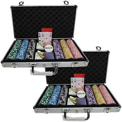 Pokerkoffer Pokerset Pro 600 13g Clay Chips selbst zusammenstellen Plastikkarten
