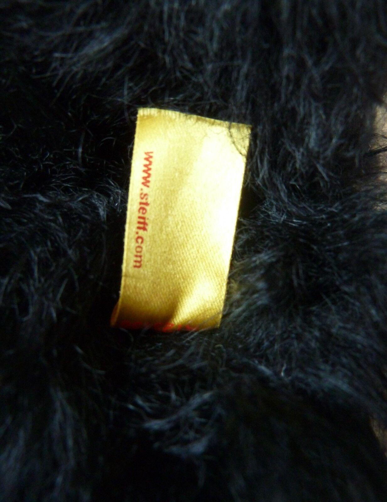 Steiff Teddybär schwarz 52 cm Teddy Bär signiert Trauerbär Brummstimme Brummstimme Brummstimme geglieder 1b1594