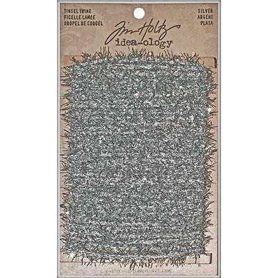 SILVER Idea-Ology Tinsel Twine 6yds by Tim Holtz