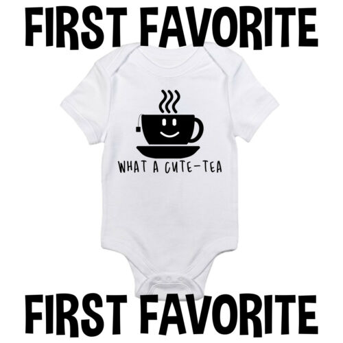 What A Cute Tea Baby Onesie Shirt Shower Gift Funny Newborn Clothes Gerber