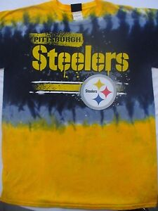 Image is loading New-PITTSBURGH-STEELERS-HORIZONTAL-STENCIL-Tie-Dye-T- a933cbb78